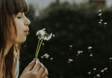 Girl And Flower